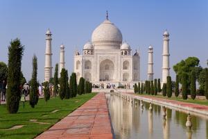 India, Uttar Pradesh, the Taj Mahal, This Mughal Mausoleum Has Become the Tourist Emblem of India by Gavin Hellier
