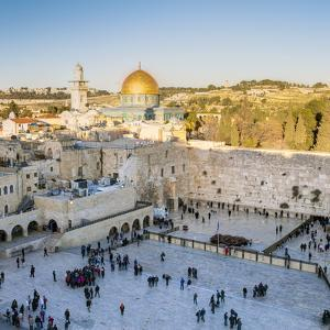 Jewish Quarter of the Western Wall Plaza, Old City, UNESCO World Heritage Site, Jerusalem, Israel by Gavin Hellier