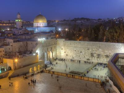 Jewish Quarter of Western Wall Plaza, Old City, UNESCO World Heritge Site, Jerusalem, Israel by Gavin Hellier