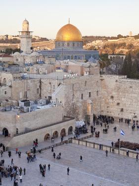 Jewish Quarter of Western Wall Plaza, UNESCO World Heritage Site, Jerusalem, Israel by Gavin Hellier