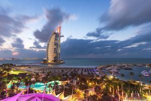 Jumeirah Beach, Burj Al Arab Hotel, Dubai, United Arab Emirates, Middle East by Gavin Hellier