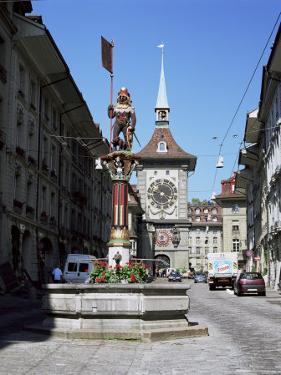 Kramgasse and the Zeitglockenturm, Bern, Bernese Mittelland, Switzerland by Gavin Hellier