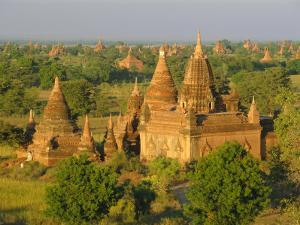 Landscape of Ancient Temples and Pagodas, Bagan (Pagan), Myanmar (Burma) by Gavin Hellier