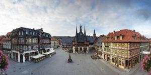 Markt Square and Guild Hall, Wernigerode, Harz Mountains, Saxony-Anhalt, Germany by Gavin Hellier