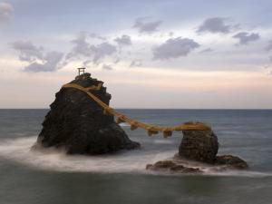 Meoto-Iwa (Wedded Rocks), Central Honshu, Japan by Gavin Hellier