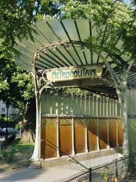 Metropolitain (Metro) Station Entrance, Paris, France, Europe by Gavin Hellier