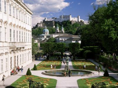 Mirabell Gardens and the Old City, Unesco World Heritage Site, Salzburg, Austria by Gavin Hellier
