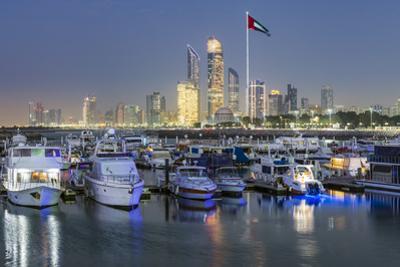 Modern city skyline and Marina, Abu Dhabi, United Arab Emirates, UAE by Gavin Hellier