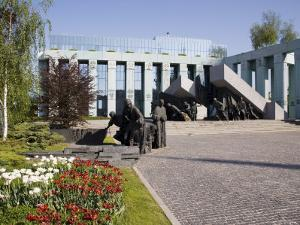 Monument to the Warsaw Uprising, Unveiled in 1989 on the 45th Anniversary of the Uprising, Poland by Gavin Hellier