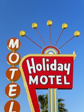 Motel Sign, the Strip, Las Vegas, Nevada, United States of America, North America by Gavin Hellier