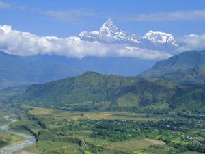 Mt. Machapuchare (Machhapuchhre) 7059M, 'The Fishtail' Peak, Himalayas, Nepal by Gavin Hellier