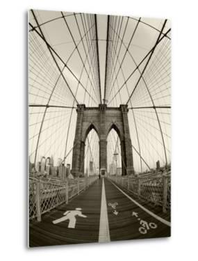 New York City, Manhattan, Brooklyn Bridge at Dawn, USA by Gavin Hellier