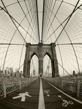 New York City, Manhattan, Brooklyn Bridge at Dawn, USA by Gavin Hellier