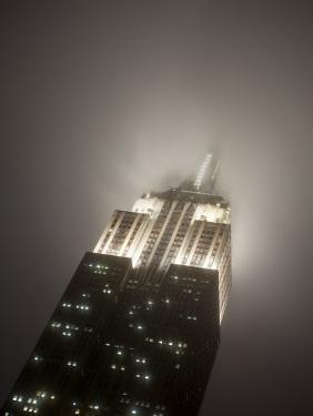 New York City, Manhattan, Empire State Building on a Rainy Evening- Low Angle View, USA by Gavin Hellier