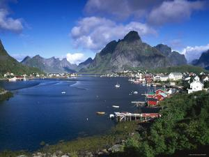 Norway, Fishing Village of Reine, Lofoten Islands, Nordland by Gavin Hellier