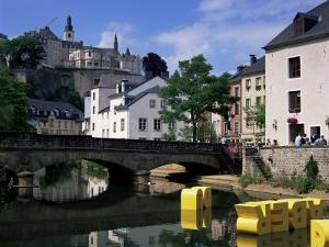 Old City and River, Luxembourg City, Luxembourg by Gavin Hellier