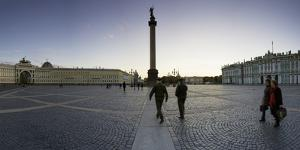 Palace Square, Alexander Column and the Hermitage, Winter Palace, St. Petersburg, Russia by Gavin Hellier