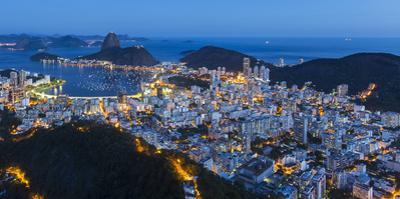 Pao Acucar or Sugar loaf mountain and the bay of Botafogo, Rio de Janeiro, Brazil, South America by Gavin Hellier