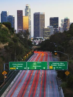 Pasadena Freeway (Ca Highway 110) Leading to Downtown Los Angeles, California, United States of Ame by Gavin Hellier