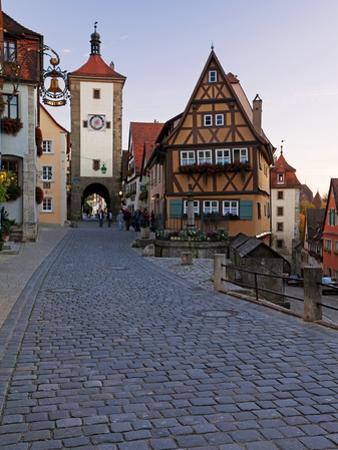 Ploenlein, Siebers Tower, Rothenburg Ob Der Tauber, Franconia, Bavaria, Germany, Europe by Gavin Hellier
