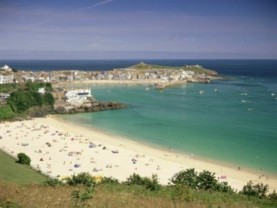 Porthminster Beach and Harbour, St. Ives, Cornwall, England, United Kingdom, Europe by Gavin Hellier