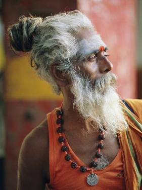 Portrait of a Sadhu, a Holy Man, Jaipur, Rajasthan State, India by Gavin Hellier