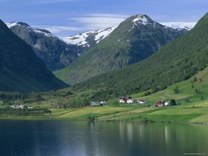 Scenery Near Songdal, Western Fjords, Norway, Scandinavia, Europe by Gavin Hellier