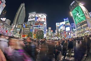 Shibuya Crossing, Crowds of People Crossing the Intersection in the Centre of Shibuya, Tokyo by Gavin Hellier