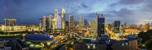 Singapore, Elevated View over the Entertainment District of Clarke Quay, the Singapore River and Ci by Gavin Hellier
