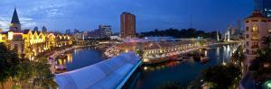 Singapore River, Clarke Quay, a New Area of Nightlife Restaurants and Bars, Singapore by Gavin Hellier
