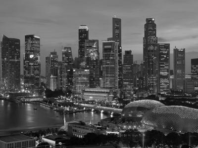 Singapore, Singapore Skyline Financial District Illuminated at Dusk, Asia by Gavin Hellier