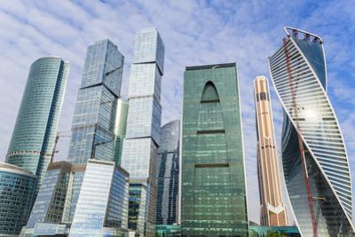Skyscrapers of the Modern Moscow-City International Business and Finance Development by Gavin Hellier