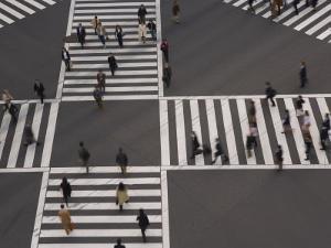 Sukiyabashi Pedestrian Crossing, Ginza, Tokyo, Japan by Gavin Hellier