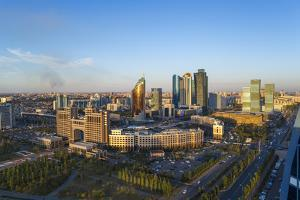 The City Center and Central Business District, Astana, Kazakhstan, Central Asia by Gavin Hellier