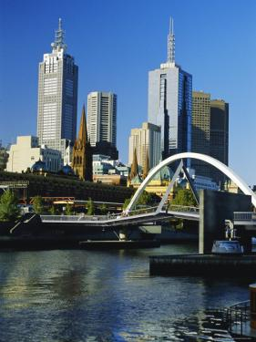 The City Skyline and Yarra River from Southgate, Melbourne, Victoria, Australia by Gavin Hellier