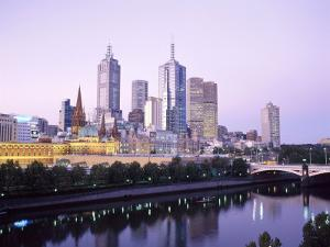 The City Skyline from Southgate, Melbourne, Victoria, Australia by Gavin Hellier