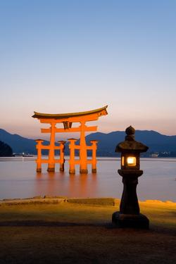The Famous Vermillion Coloured Floating Torii Gate by Gavin Hellier