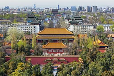 The Forbidden City in Beijing Looking South Taken from the Viewing Point of Jingshan Park by Gavin Hellier