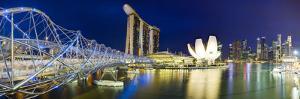 The Helix Bridge and Marina Bay Sands, Marina Bay, Singapore by Gavin Hellier
