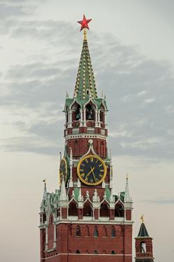 The Kremlin Clocktower in Red Square, Moscow, Russia by Gavin Hellier