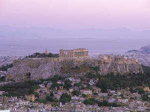 The Parthenon and Acropolis from Lykavitos, Unesco World Heritage Site, Athens, Greece, Europe by Gavin Hellier
