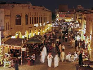 The Restored Souq Waqif with Mud Rendered Shops and Exposed Timber Beams, Doha, Qatar, Middle East by Gavin Hellier
