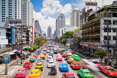 Traffic Congestion in Central Bangkok, Thailand, Southeast Asia, Asia by Gavin Hellier