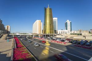Twin Golden Conical Business Centres, Astana, Kazakhstan, Central Asia by Gavin Hellier