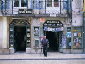 Typical Shop Fronts in the City Centre, Lisbon, Portugal, Europe by Gavin Hellier