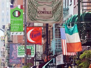 Typical Street Scene in Little Italy, Manhattan, New York, USA by Gavin Hellier