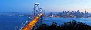 USA, California, San Francisco, City Skyline and Bay Bridge from Treasure Island by Gavin Hellier