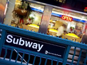 USA, New York City, Diner in Midtown Manhattan by Gavin Hellier