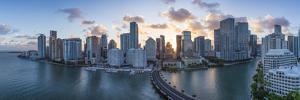 View from Brickell Key, a Small Island Covered in Apartment Towers, Towards the Miami Skyline by Gavin Hellier
