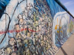 View from Former East Berlin of a Section of Berlin Wall, Berlin, Germany by Gavin Hellier